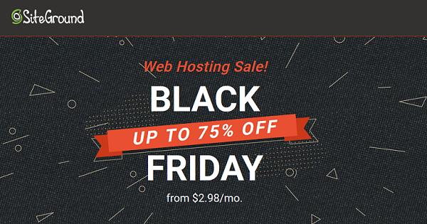SiteGround Black Friday Deals 2021 → Up to 75% OFF (Big Sale)