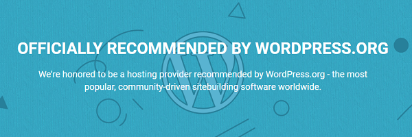 SiteGround - Officially Recommended by WordPress.org
