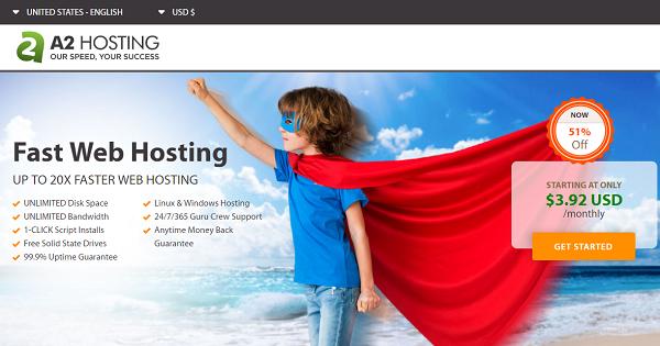 A2 Hosting Shared 2021 → 51% OFF + Free SSL Certificate