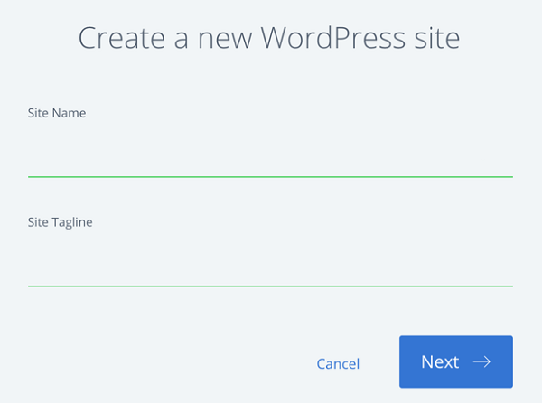 Create a new WordPress Site on Bluehost