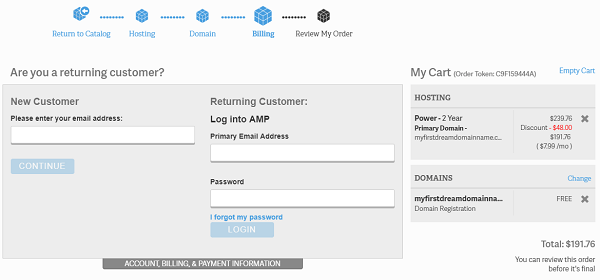 InMotion Shared Hosting Account Information