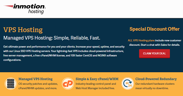 InMotion VPS Hosting 2021 → Up to 55% OFF + Free SSL Certificate