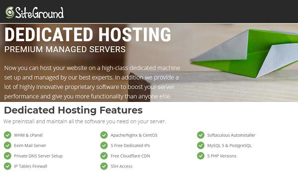 SiteGround Dedicated Hosting - Get 5% OFF + 5 Free Dedicated IPs