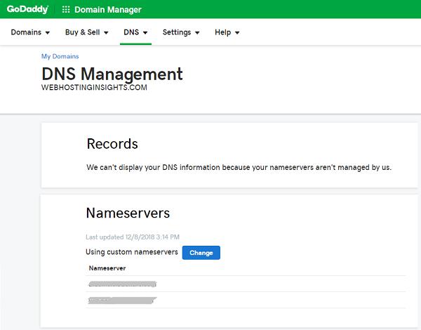 GoDaddy DNS Management