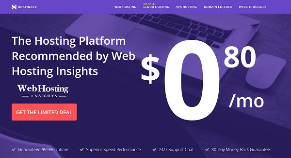 Hostinger Web Hosting Sale